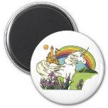 Fairytale Unicorn 2 Inch Round Magnet