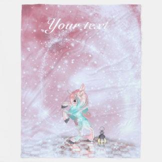 Fairytale Unicorn Fleece Blanket