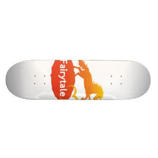 Fairytale Unicorn with Love Skateboard