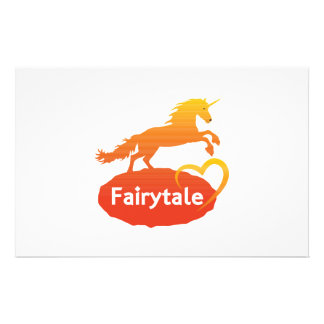 Fairytale Unicorn with Love Stationery