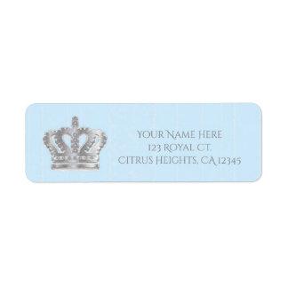 Fairytale Vintage Blue Royal Prince Address Label