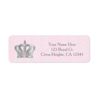 Fairytale Vintage Pink Princess Address Label