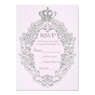 Fairytale Vintage Princess Pink Royal RSVP Card