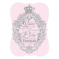 Fairytale Vintage Storybook Wedding Invitation