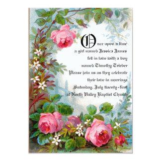 """Fairytale Wedding Announcement 5"""" X 7"""" Invitation Card"""