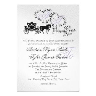 Carriage Fairytale Wedding Invitations Announcements Zazzle