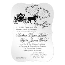 Fairytale Wedding Carriage Silver Invitation