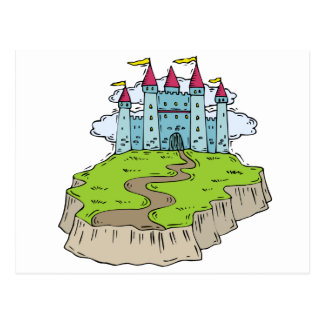Fairytale Wedding Castle Postcard