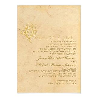 Fairytale Wedding Custom Invitations