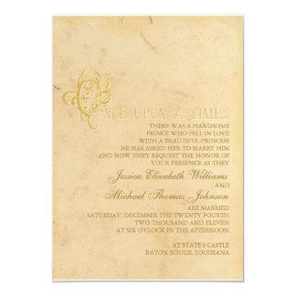 Fairytale Wedding 5x7 Paper Invitation Card