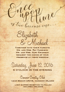 Once Upon A Time Wedding Invitations | Zazzle