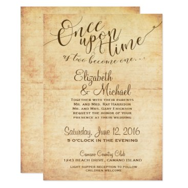 ericksondesigns Fairytale Wedding Invitation Once Upon A Time