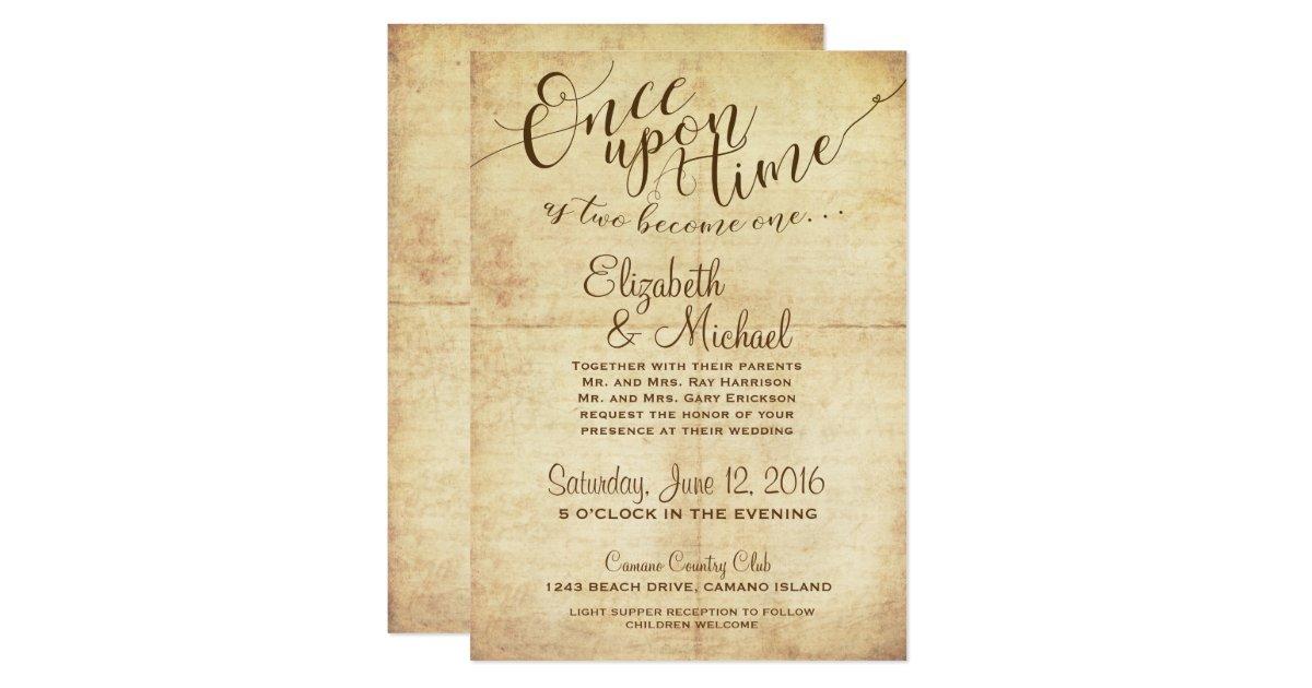 Fairytale Invitations Wedding: Fairytale Wedding Invitation Once Upon A Time