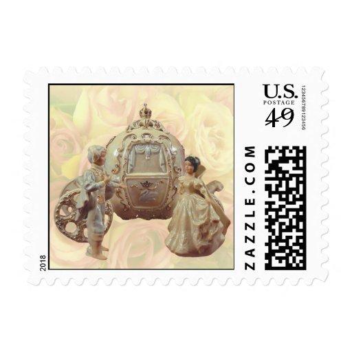 Fairytale Wedding Postage Stamp