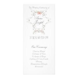 Fairytale wedding program II Rack Card