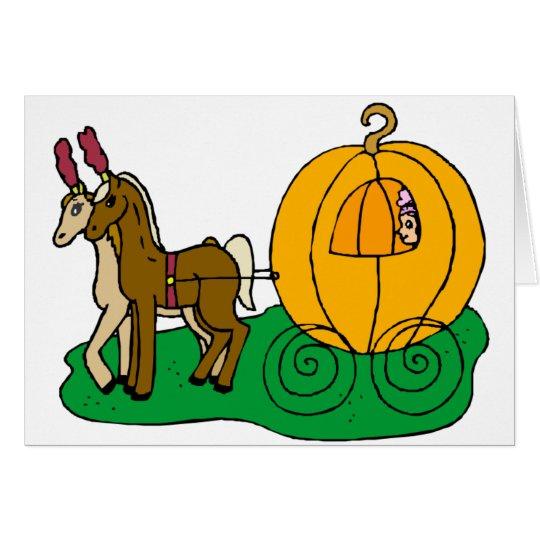 Fairytale Wedding Pumpkin Coach Card