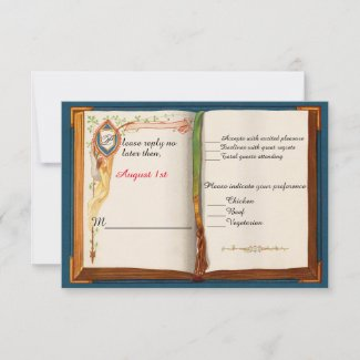 Fairytale Wedding Response Card