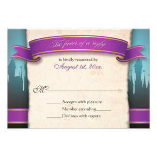 Fairytale Wedding RSVP Reply Cards