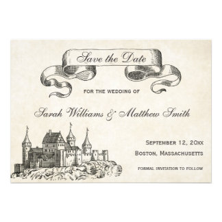 Fairytale Wedding Save the Date Cards