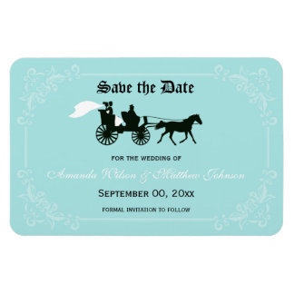 Fairytale Wedding Save the Date Magnets