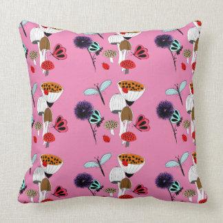 Fairytale Whimsy Nature Garden Throw Pillow