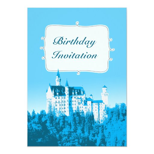 Fairytale White Castle Birthday Party Invitation