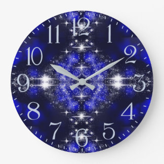 Fairytale Winter Night Sparkle Large Clock