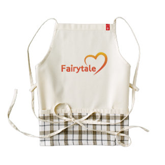 Fairytale with Love Zazzle HEART Apron