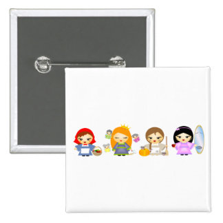 Fairytales 2 Inch Square Button