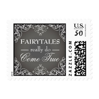 Fairytales Really Do Come True Wedding Postage