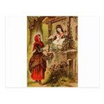 Fairytalesque- blanco como la nieve tarjeta postal