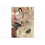 Fairytalesque - blanco de la nieve tarjeta postal