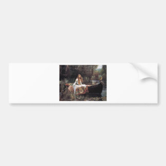 "Fairytalesque. -""The Lady of Shalott"" Car Bumper Sticker"