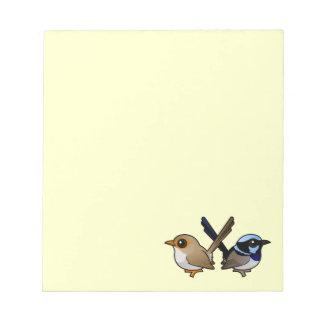 Fairywrens in Love Note Pad