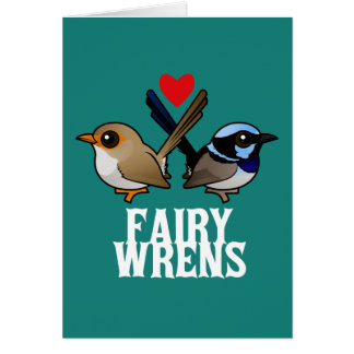 Fairywrens in Love Stationery Note Card