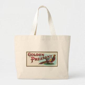 Faisán de oro bolsa tela grande