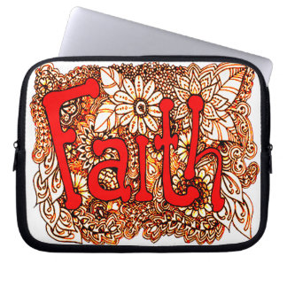 Faith 1 laptop sleeve