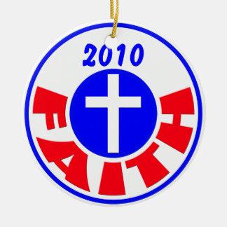Faith 2010 ceramic ornament