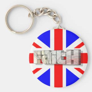 Faith 3D England 3 Keychain