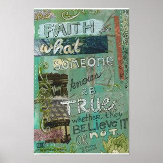 Faith a lá Flannery Poster