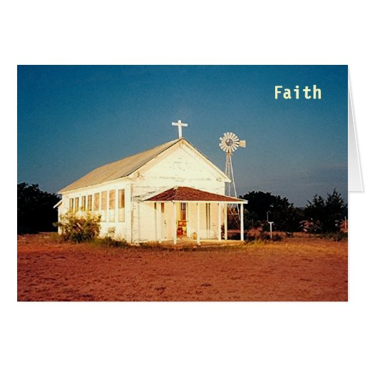 FAITH AGLOW greeting card