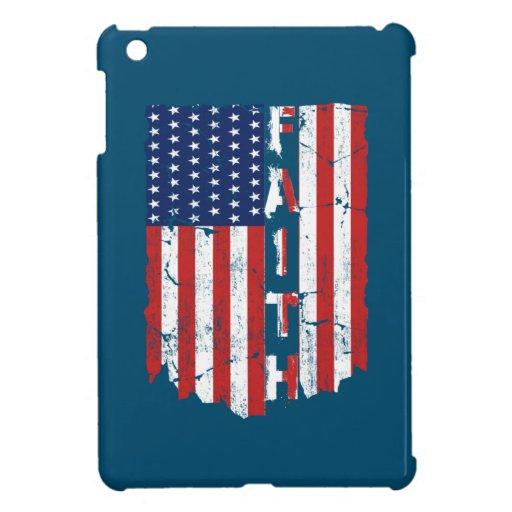 Faith American Flag Jesus Christ Case For The iPad Mini