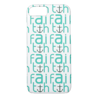 Faith Anchor Pattern iPhone 7 case
