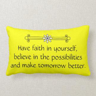 Faith and Belief Lumbar Pillow