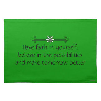 Faith and Belief Placemat