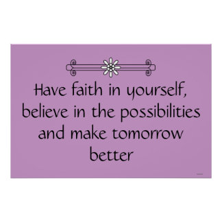 Faith and Belief Poster