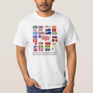 FAITH AND FLAG: SHOW YOUR TRUE COLORS  T-SHIRT