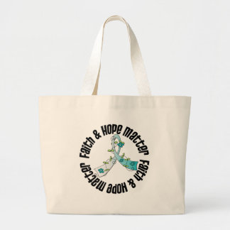 Faith and Hope Matter - Cervical Cancer Jumbo Tote Bag