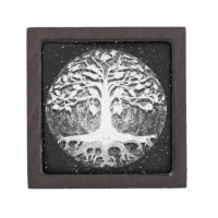 Faith and Hope Tree of Life Black and White Gift Box