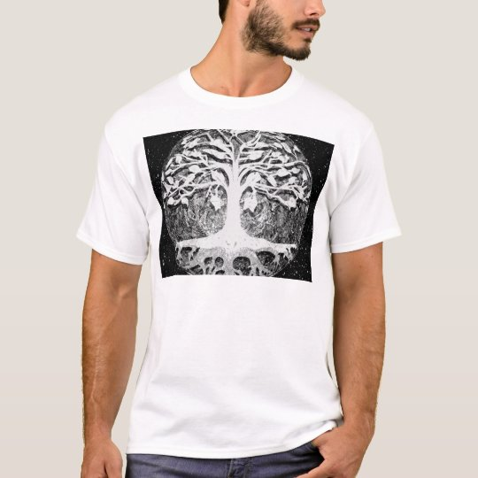 Faith and Hope Tree of Life Black and White T-Shirt